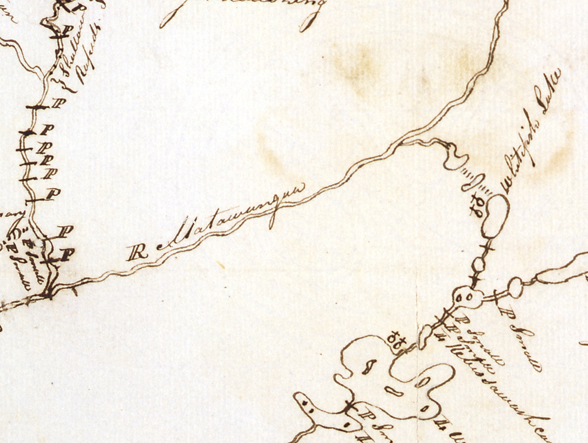 1827 McBean HBC map_Detail 5, Vermilion River